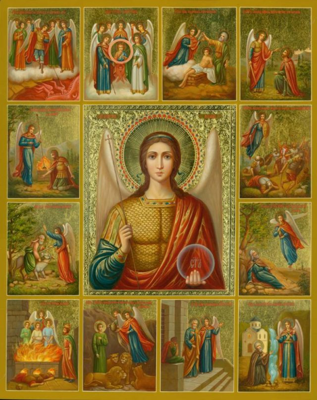 Икона Архангел Михаил с чудесами