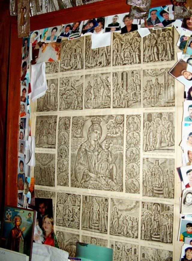 Чудотворная бумажная икона Божией Матери Икона Божией Матери «Неувядаемый цвет». Гора Фавор